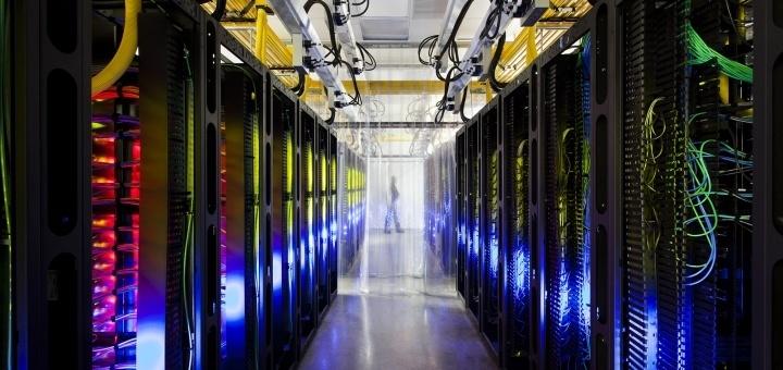 'Rack' met servers. Foto: Google