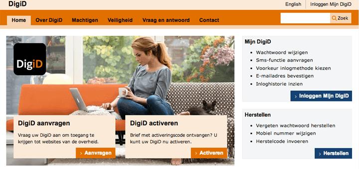 DigiD is het digitale authenticatiemiddel van de overheid