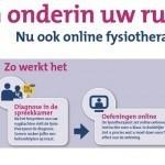 Reclameposter voor online fysiotherapie van zorgverzekeraar MenzisReclameposter voor online fysiotherapie van zorgverzekeraar Menzis