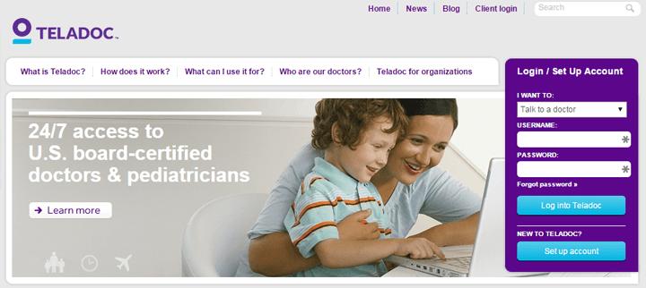 Teladoc: aantal consulten verdubbelt elk jaar