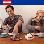 De oprichters van mySugr met CEO Frank Westermann uiterst links