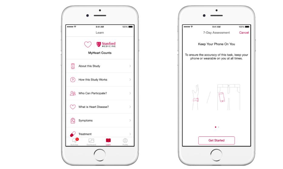 MyHeart Counts, een ResearchKit app ontwikkeld door Stanford University