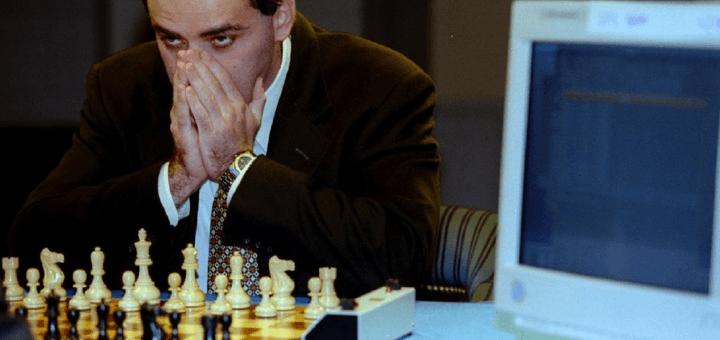 Gary Kasparov speelt tegen IBM's Deep Blue
