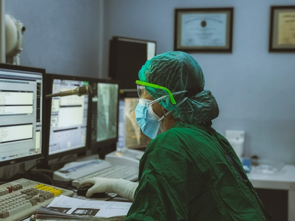 verpleegster verpleger verpleegkundige computer